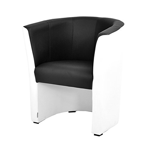 TOP Sessel Clubsessel Loungesessel Cocktailsessel MIX Weiss/Schwarz W042 12