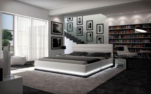 Designerbett Ripnani 180x200 cm Doppelbett Futonbett Bett Polsterbett Kunstleder