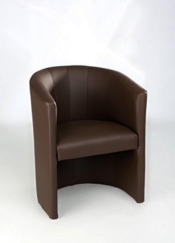Design Cocktailsessel Sessel Clubsessel Loungesessel Club Möbel Bürosessel Praxismöbel braun