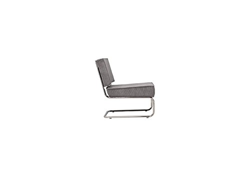 Design Sessel Ridge Lounge Rib hellgrau
