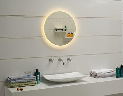 design led beleuchtung badspiegel wandspiegel lichtspiegel gs047n rund 60cm warmwei m bel24. Black Bedroom Furniture Sets. Home Design Ideas