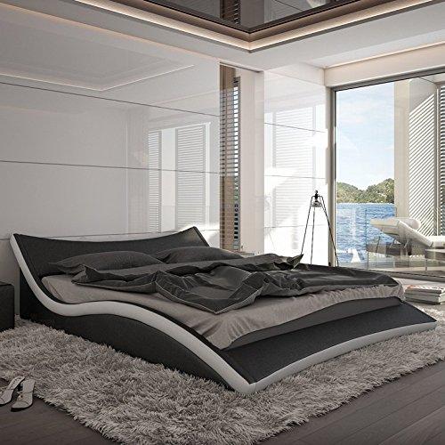 Innocent Polsterbett aus Kunstleder Nurai schwarz / weiß, 140 x 200 cm