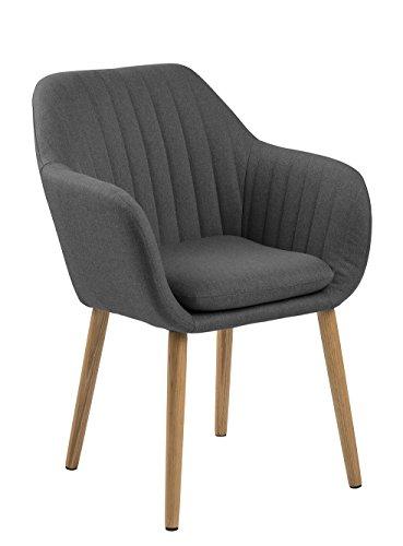 AC Design Furniture Wendy Stuhl, Stoff, Dunkelgrau, 59 x 57 x 83 cm