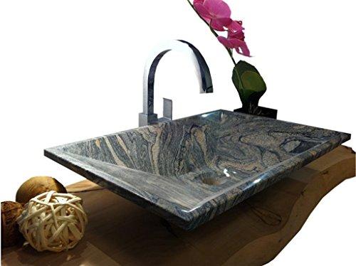 waschbecken aus naturstein granit model havanna juparana 60x40cm m bel24. Black Bedroom Furniture Sets. Home Design Ideas