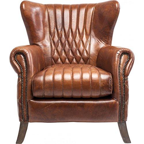 Kare 79065 Sessel, Leder, braun, 88 x 83 x 90 cm