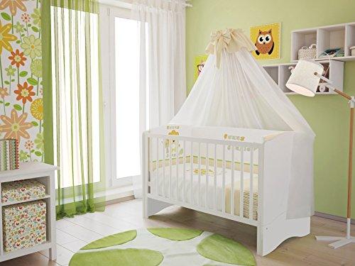 polini kids kinderbett babybett set umbaubar zum juniorbett mit matratze incl bettset 7 tlg. Black Bedroom Furniture Sets. Home Design Ideas