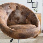 Design Drehsessel COUTURE antik coffee höhenverstellbar im Lounge Design Drehstuhl Arbeitszimmer Bürostuhl Sessel Stuhl