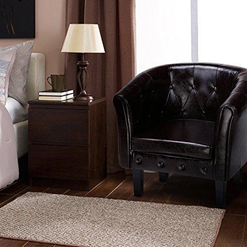 cclife chesterfield lounge sessel klassisches design mit hochwertige qualit t f r wohnzimmer. Black Bedroom Furniture Sets. Home Design Ideas