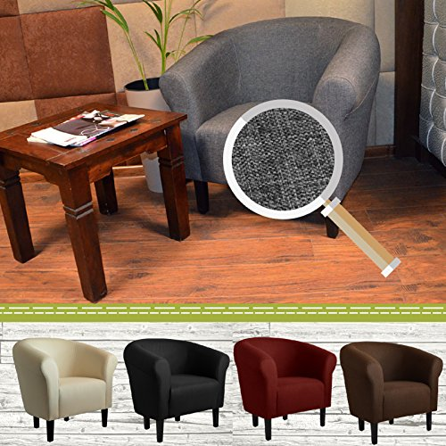 "Clubsessel Loungesessel Cocktailsessel ""MONACO 2"" Sawanna Braun W364 11"
