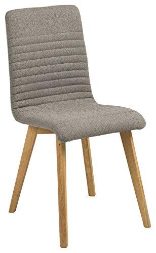 AC Design Furniture 64832 Esszimmerstuhl, Stoff, hellgrau, 43 x 42 x 90 cm