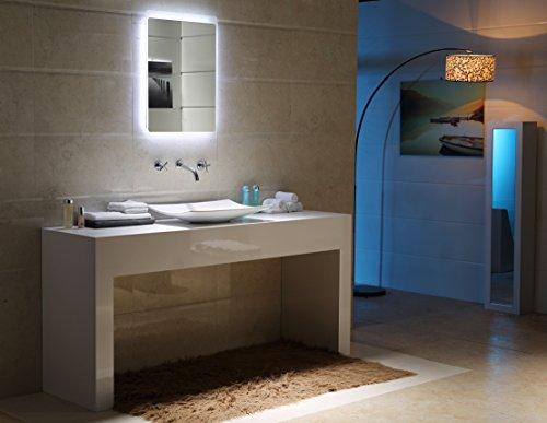 led beleuchtung touch schalter badspiegel gs044 lichtspiegel wandspiegel 40 x 60 cm m bel24. Black Bedroom Furniture Sets. Home Design Ideas