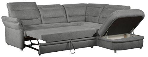 cavadore 5145 polsterecke bontlei 3 sitzer mit bettfunktion echt bezogen links ottomane mit. Black Bedroom Furniture Sets. Home Design Ideas