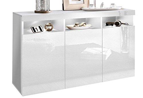 sideboard kommode wohnzimmer schrank wohnzimmer wei. Black Bedroom Furniture Sets. Home Design Ideas