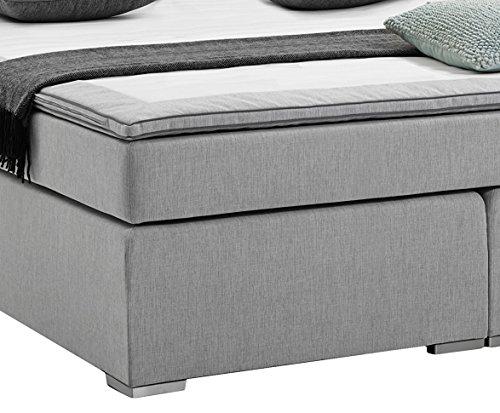 atlantic home collection rex boxspringbett liegefl che 180 200 cm h rtegrad 2 hellgrau 4. Black Bedroom Furniture Sets. Home Design Ideas