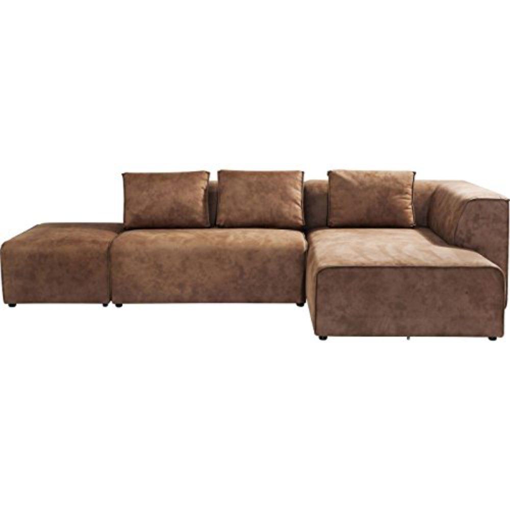 Sofa Infinity Antique 24 Ottomane Rechts Cognac Stoff B302xT182xH70 by Kare Design