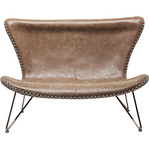 Kare Design Sofa Miami Braun 2-Sitzer - Ausstellungsstück