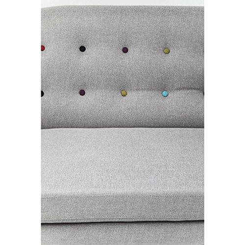 3-Sitzer Sofa Couch Design KARE Design grau mit bunten Knöpfen 3