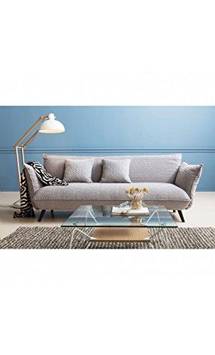 Kare Design Sofa Molly 3-Sitzer B205xT90xH80 grau 1