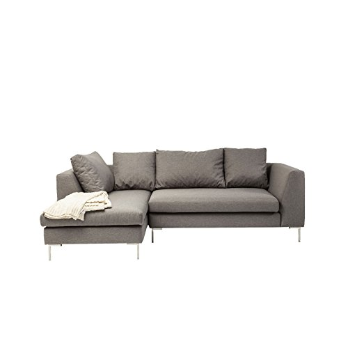 sofa d winkel bruno panini klein grau links kare design. Black Bedroom Furniture Sets. Home Design Ideas