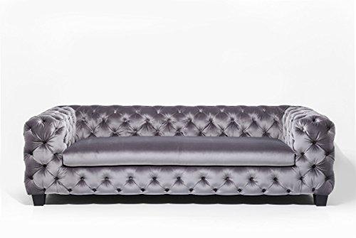 3-Sitzer Chesterfield Sofa My Desire Polsterfarbe: Silbergrau