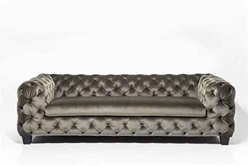 3-Sitzer Chesterfield Sofa My Desire Polsterfarbe: Khaki
