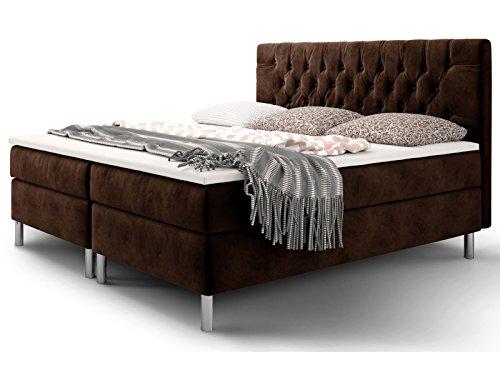 boxspringbett 180x200 160x200 doppelbett hotelbett chesterfield velourstoff ehebett. Black Bedroom Furniture Sets. Home Design Ideas