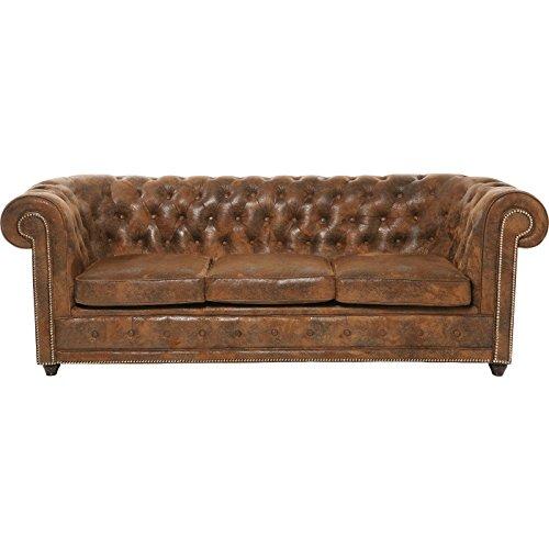Sofa Oxford 3-Sitzer Vintage Rivet Mikrofaser B220xT92xH76 by Kare Design
