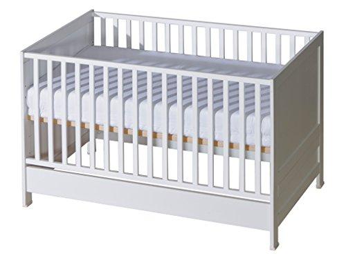 belivin 2in1 babybett gitterbett 140x70cm wei umbaubar zum juniorbett jugendbett inkl. Black Bedroom Furniture Sets. Home Design Ideas