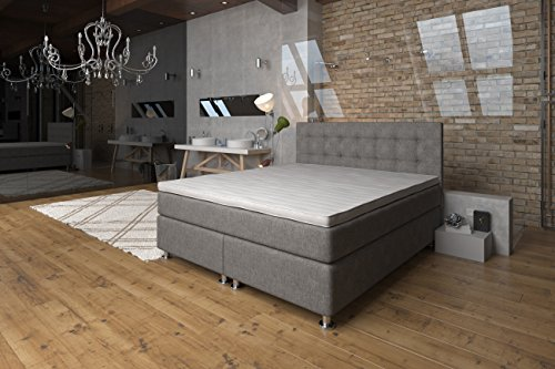boxspringbett 140x200 ronda lux komfort 7 zonen taschenfederkern matratze h2 h3 unterbau. Black Bedroom Furniture Sets. Home Design Ideas