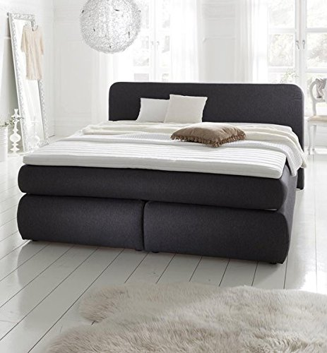 boxspringbett hamburg 180x200 anthrazit h2 mit 7 zonen. Black Bedroom Furniture Sets. Home Design Ideas