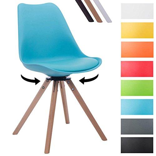 Clp design retro stuhl troyes rund mit kunstlederbezug und for Design stuhl bequem