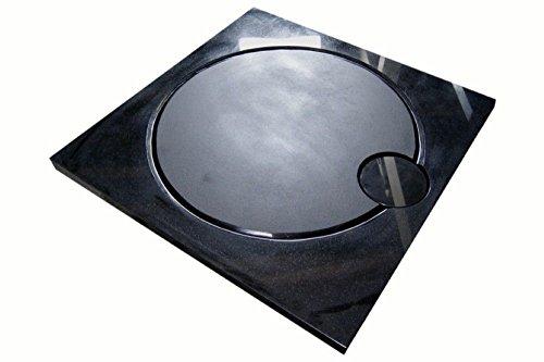 Design Duschwanne aus Naturstein, Duschtasse, Granit, 90*90cm, India Black Schwarz