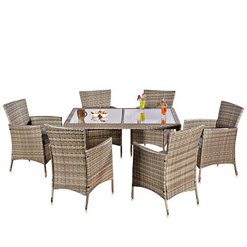 13 tlg poly rattan gartenm bel gartengarnitur gartenset grau essgruppe m bel24. Black Bedroom Furniture Sets. Home Design Ideas