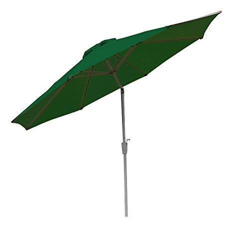 Alu Sonnenschirm Gartenschirm N19 300cm, neigbar, rostfrei ~ grün