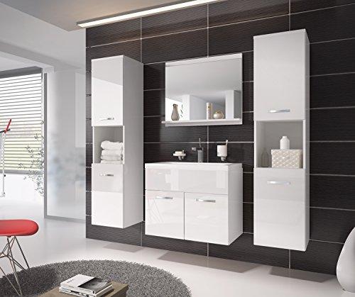 Badezimmer Badmöbel Montreal XL 60 cm Waschbecken Weiß
