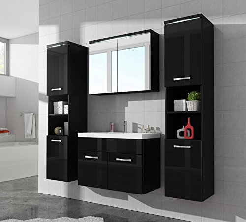 badezimmer badm bel paso xl led 80 cm waschbecken. Black Bedroom Furniture Sets. Home Design Ideas