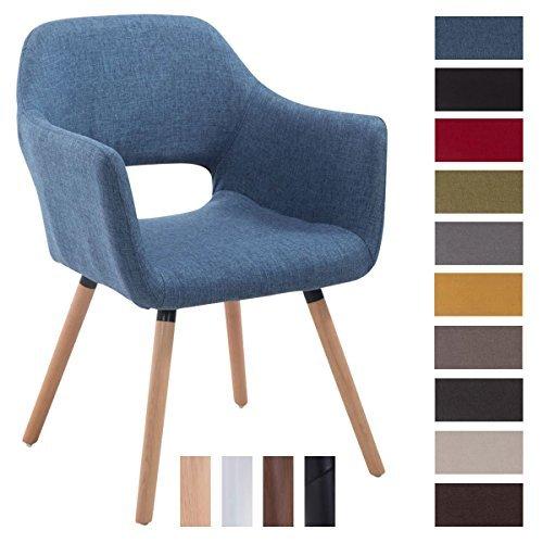 clp besucherstuhl auckland mit stoffbezug und armlehne esszimmerstuhl mit gepolsterter. Black Bedroom Furniture Sets. Home Design Ideas
