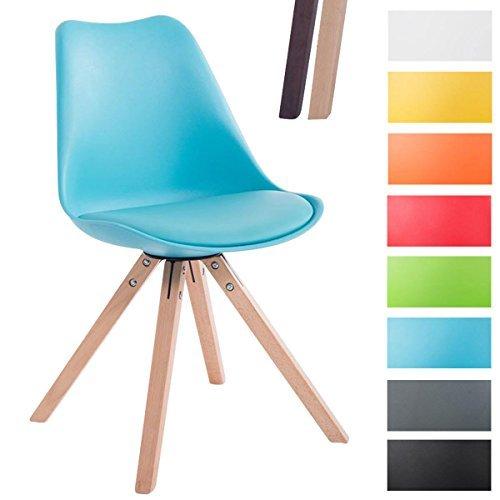 clp design retro stuhl toulouse squared mit kunstlederbezug und hochwertigem sitzpolster. Black Bedroom Furniture Sets. Home Design Ideas