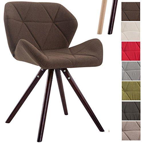 Clp design retro stuhl tyler bein form rund stoff sitz for Design stuhl form