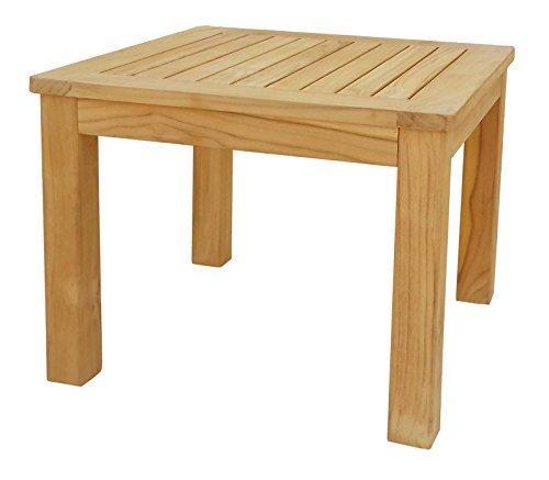 Couchtisch 50x50 cm Kaffeetisch Gartenmöbel Möbel Gartentisch Teak Beistelltisch Hocker