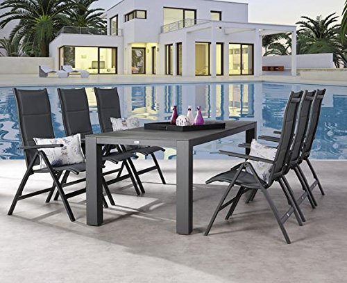 gartengarnitur gartengruppe 7 tlg garten set gartenm bel gartenm belset modern m bel24 shop xxxl. Black Bedroom Furniture Sets. Home Design Ideas
