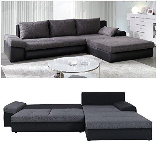 polsterecke sofa bono mit schlaffunktion wohnlandschaft schlafsofa schlafcouch kunstleder. Black Bedroom Furniture Sets. Home Design Ideas