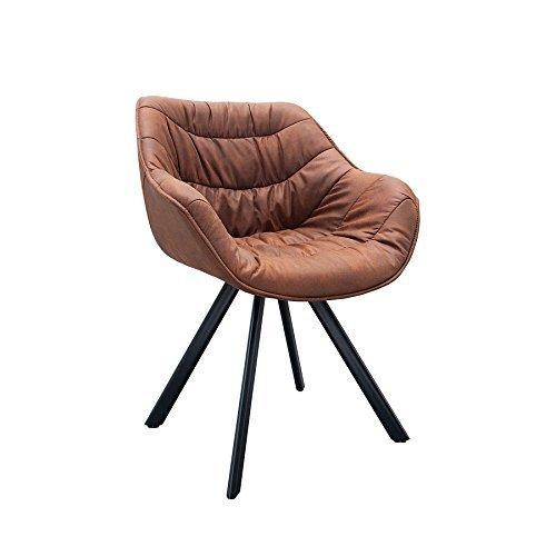 Retro stuhl gepolstert the dutch comfort antik braun for Design stuhl the dutch retro