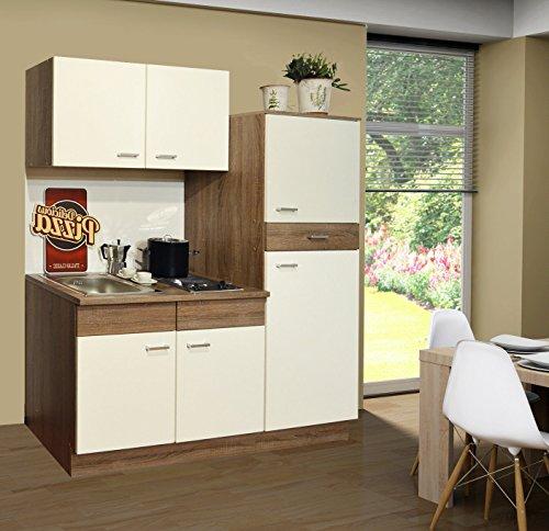 singlek che pantryk che k che k hlschrank sp le kochplatten tr ffel 1 60 m m bel24. Black Bedroom Furniture Sets. Home Design Ideas