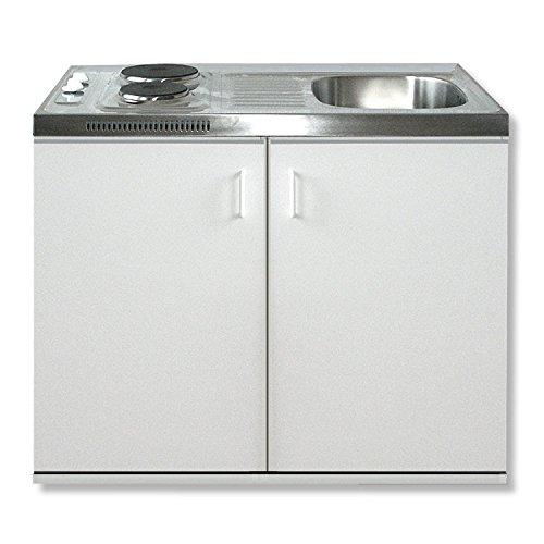Singleküche - weiß - 100 cm Breite