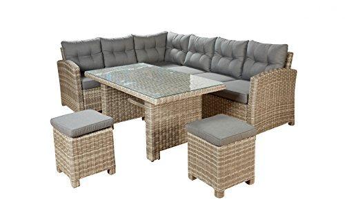 sitzgruppe valencia lounge set gartenm bel 7 tlg polyrattan mit auflagen m bel24. Black Bedroom Furniture Sets. Home Design Ideas
