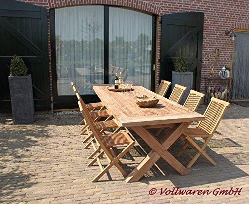 """TEAK GARTENTISCH """"BRAHN"""" 240x100 Teakholz antik massiv Tisch Tafel Gartenmöbel"""