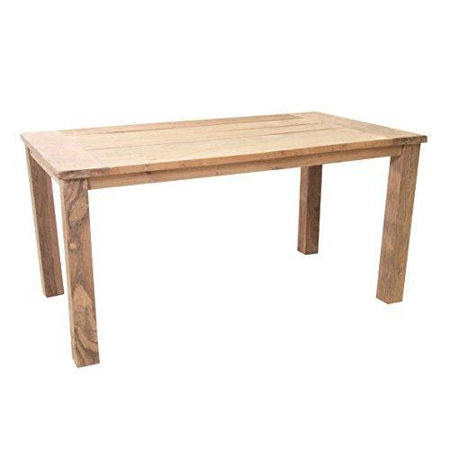 """Teaktisch """"Sobura"""" Holztisch Gartentisch aus recyceltem Teak, Gartenmöbel Tisch mit rustikaler Oberfläche, widerstandsfähig und witterungsbeständig, zeitloses Design, Maße ca. 160 x 90 x 75 cm"""