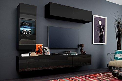 Wohnwand 12 Anbauwand Moderne Wohnwand Hochglanz Weiß