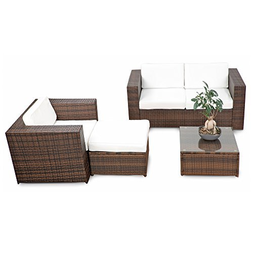 erweiterbares 12tlg rattan lounge m bel balkon sitzgruppe. Black Bedroom Furniture Sets. Home Design Ideas